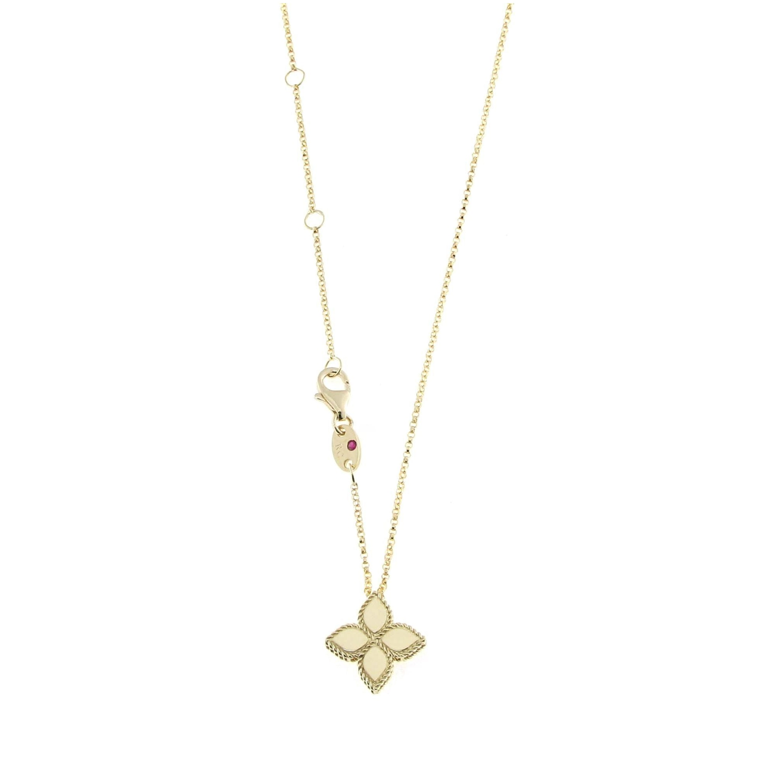 roberto p pendant necklaces yellow flower gold princess coin