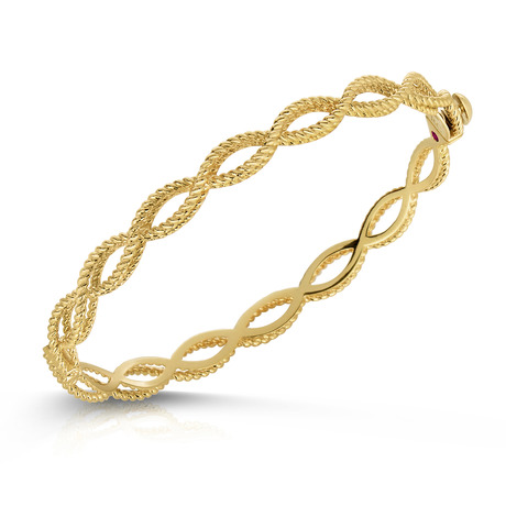 Roberto Coin New Barocco 18ct Yellow Gold Bangle