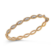 Roberto Coin New Barocco 18ct Yellow Gold 0.58ct Diamond Bangle