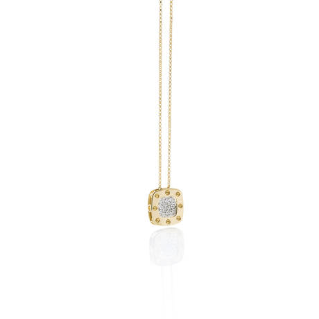 Roberto Coin Pois Moi 18ct Yellow And White Gold 0.26ct Diamond Pendant