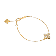 Roberto Coin Princess Flower 18ct Yellow Gold 0.18ct Diamond Bracelets