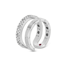 Roberto Coin Symphony 18ct White Gold Double 0.49ct Ring - Ring Size N