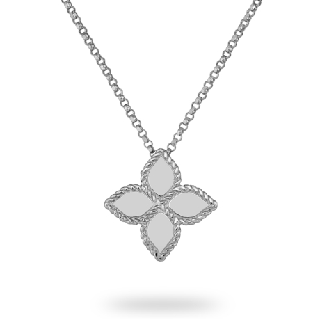Roberto Coin Princess Flower 18ct White Gold Pendant