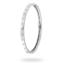 Roberto Coin Symphony White Gold Mini Pois Moi Bangle