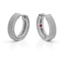 Roberto Coin Symphony White Gold Mini Barocco Hoops
