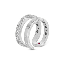 Roberto Coin Symphony 18ct White Gold Double 0.49ct Ring
