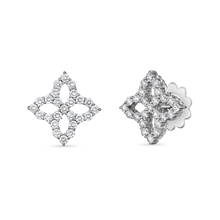 Roberto Coin Princess Flower White Gold 2.37ct Diamond Stud Earrings