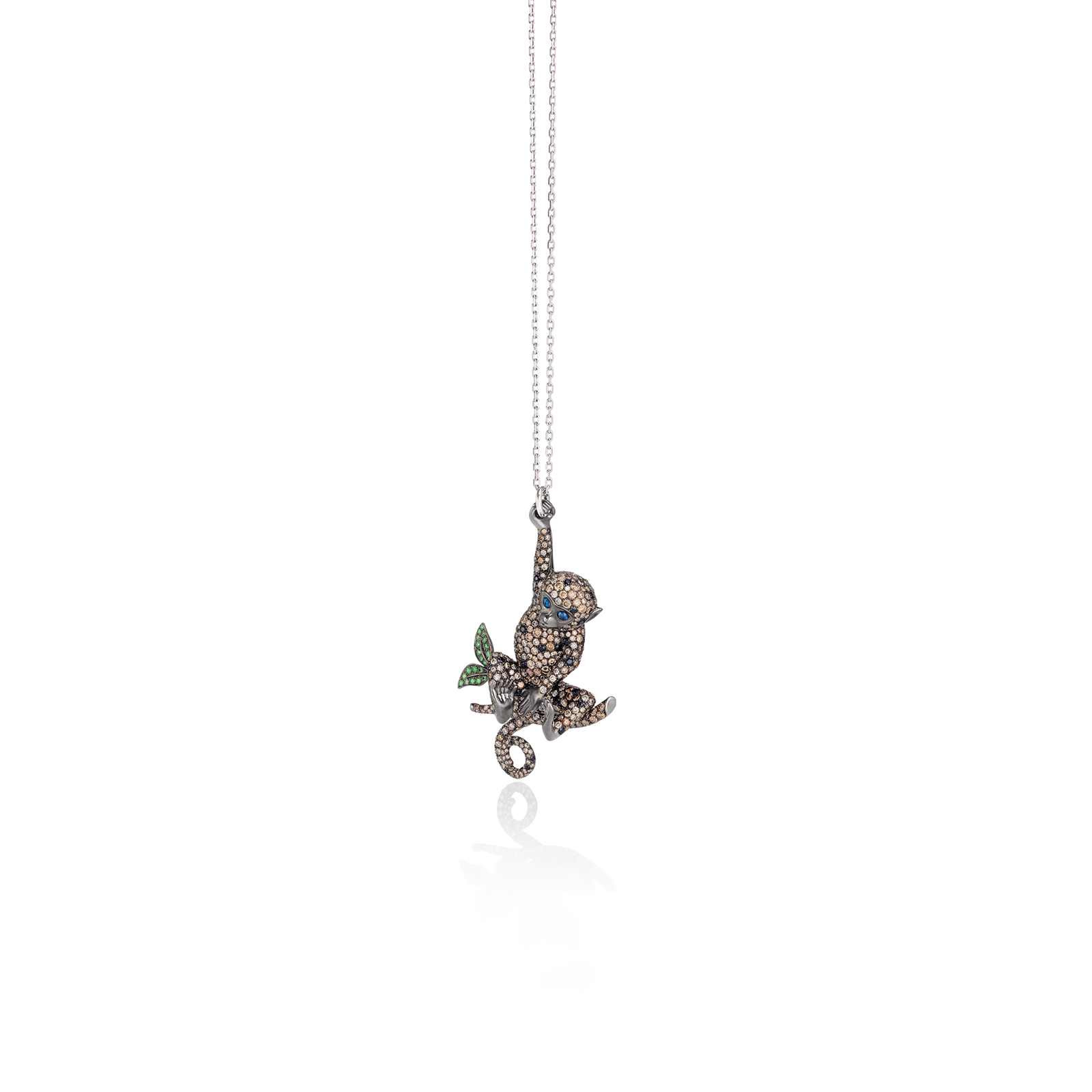 Roberto Coin Animalier Monkey Diamond Pendant