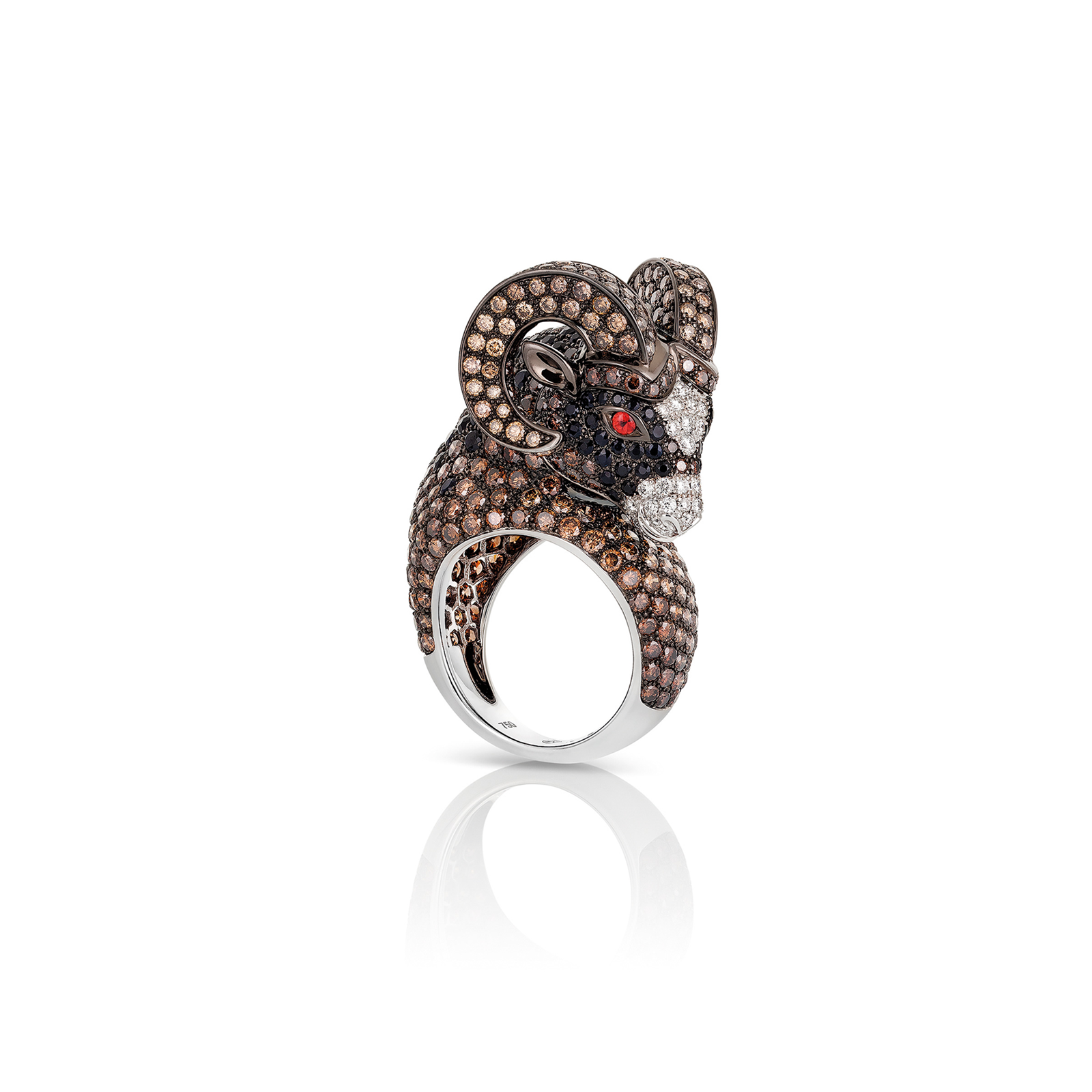 Roberto Coin Animalier Aries Diamond Ring - Ring Size M