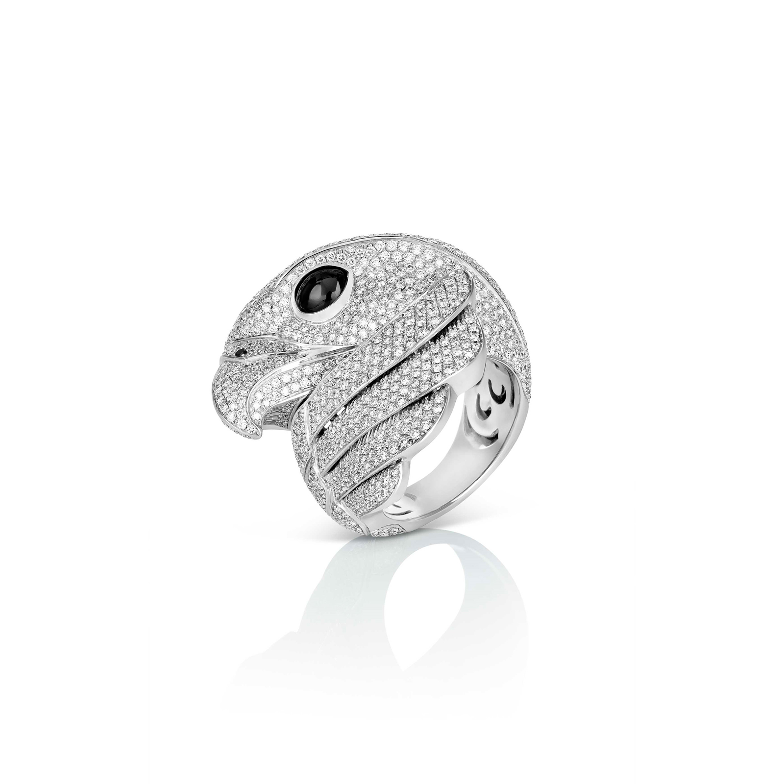 Roberto Coin Animalier Falcon Diamond Ring - Ring Size N