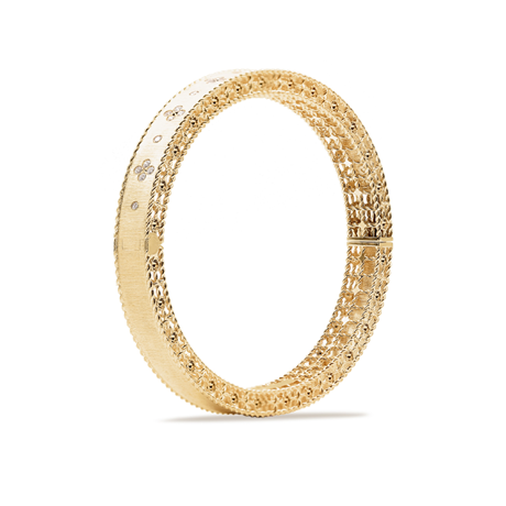 Roberto Coin Venetian Princess 18ct Yellow Gold & Diamond Bangle