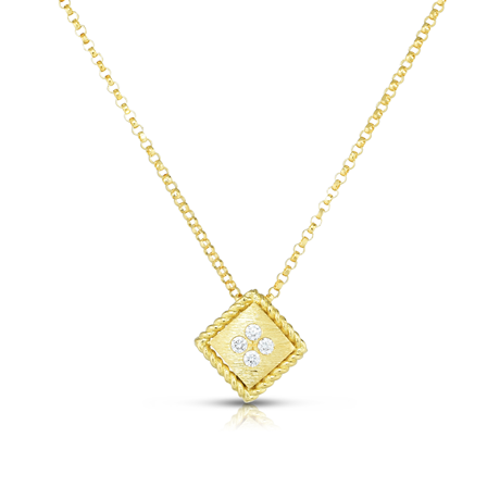 Roberto Coin Palazzo Ducale 18ct Yellow Gold Diamond Pendant