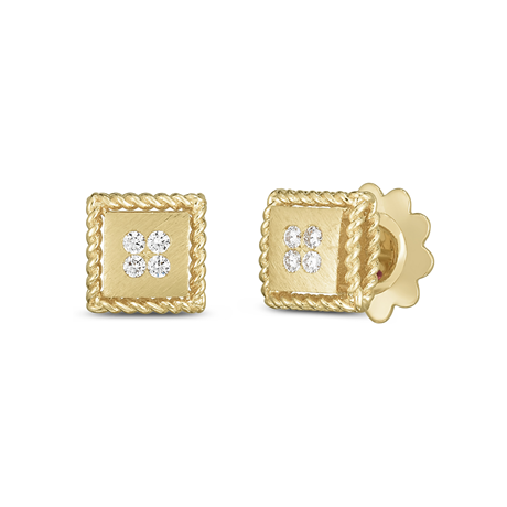 Roberto Coin Palazzo Ducale 18ct Yellow Gold Diamond Stud Earrings