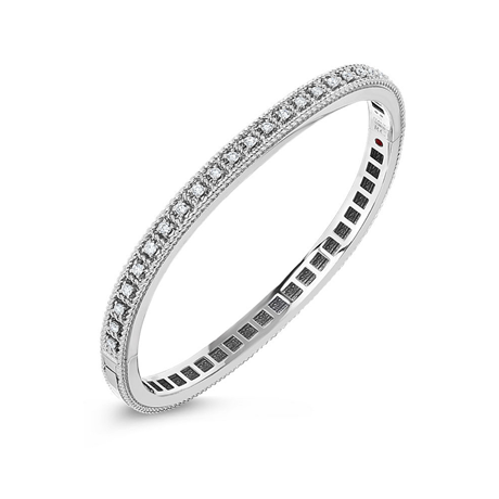Roberto Coin 18ct White Gold Diamond Roman Barocca Bangle