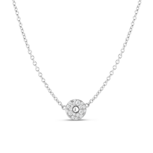 For Her - Roberto Coin 18ct White Gold Diamond Pois Moi Pendant - ADR888CL1723    W