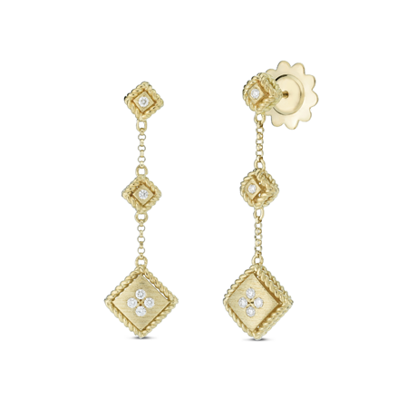 Roberto Coin Palazzo Ducale 18ct Yellow Gold Diamond Drop Earrings