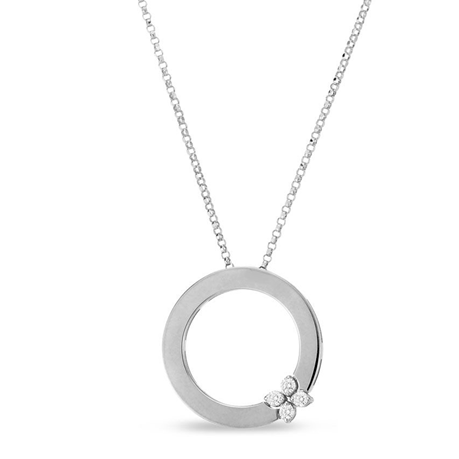 Roberto Coin 18ct White Gold Love in Verona 0.10ct Pendant