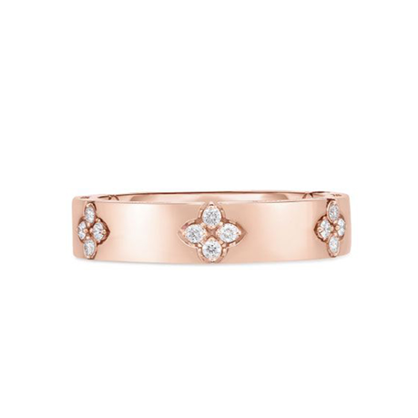 Roberto Coin 18ct Rose Gold Love In Verona 0.19ct Ring