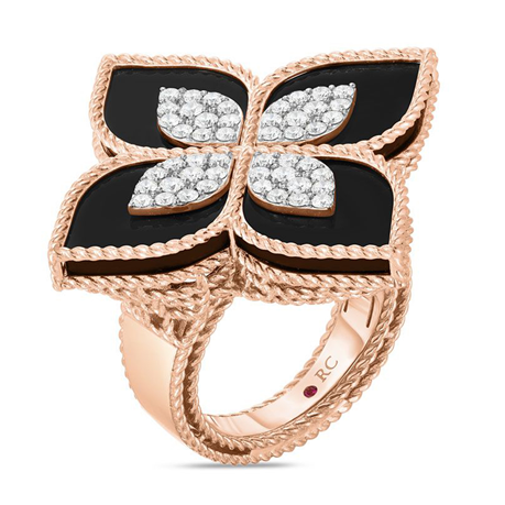 Roberto Coin 18ct Rose Gold Princess Flower0.70ct Ring