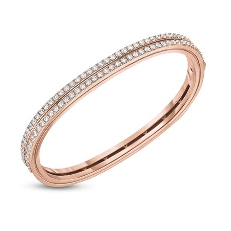 Roberto Coin 18ct Rose Gold Portofino Diamond Set Bangle
