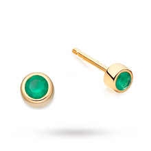 Astley Clarke Mini Green Agate Stilla Stud Earrings