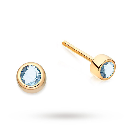 Astley Clarke Mini London Blue Topaz Stilla Stud Earrings