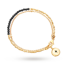 Astley Clarke Black Spinel Locket Biography Bracelet