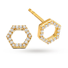 Astley Clarke Yellow Honeycomb Stud Earrings