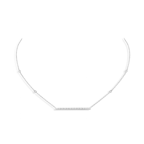 Messika Gatsby Diamond Horizontal Bar Necklace