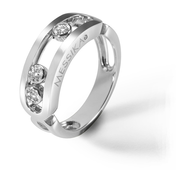 Messika Move Classique Diamond Set Ring in - Ring Size J