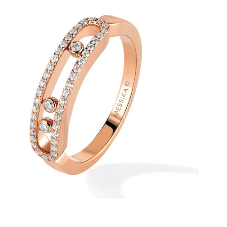 Messika Move Classique Pave Set Diamond Ring in 18ct Rose Gold