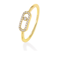 Messika Move Classique Diamond Pave Ring in 18ct Yellow Gold