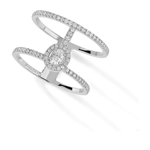 Messika Glam'Azone Two Row Diamond Ring