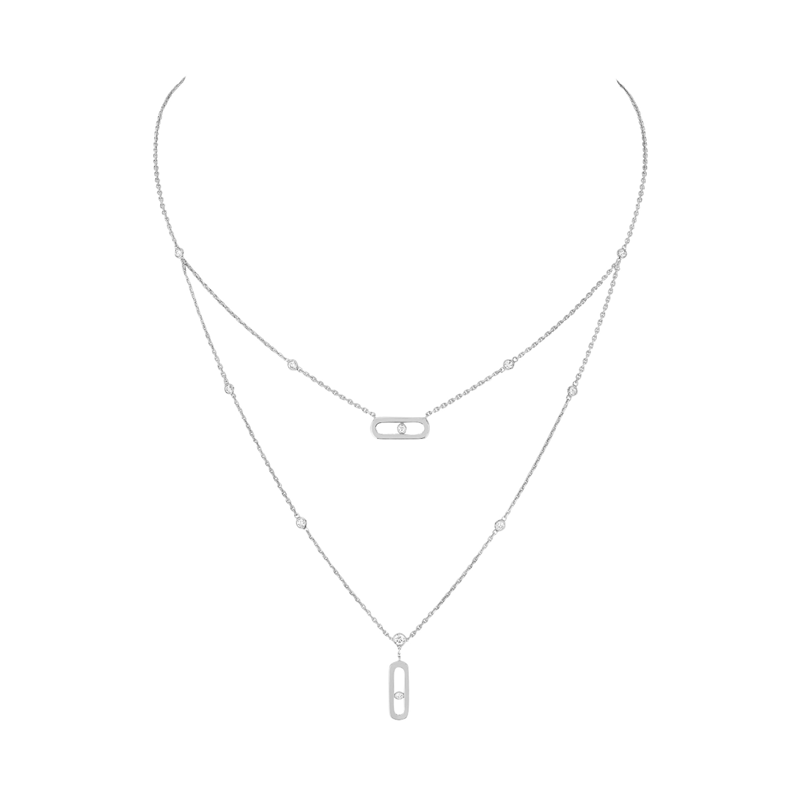 Messika Move Classic Uno 2 Rows Necklace