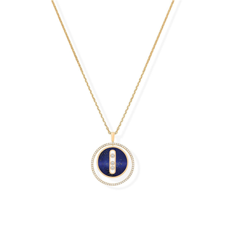 Messika 18ct Yellow Gold Lapis Luck Move Necklace