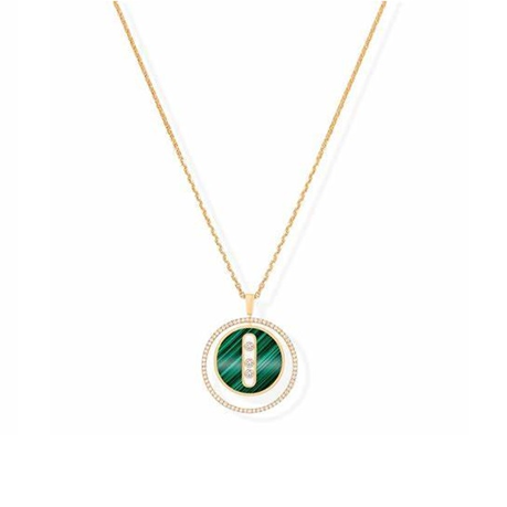 Messika 18ct Yellow Gold Malachite Lucky Move Necklace
