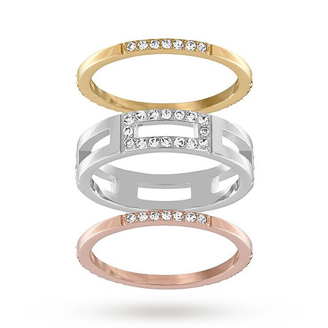 For Her - SWAROVSKI Cubist Ring Set - Size Extra Small - 5143866
