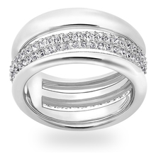 SWAROVSKI Exact Ring White Gold Plated Ring - Ring Size 50