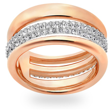 SWAROVSKI Exact Ring, White, Rose Gold Plating - Ring Size 50