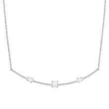 SWAROVSKI Rhodium Plated Gray Necklace