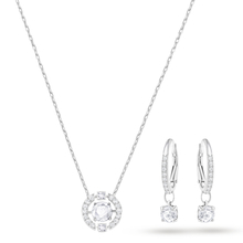 SWAROVSKI Sparkling Circle Necklace & Earrings Set