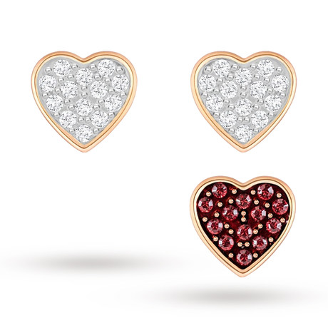 For Her - SWAROVSKI Gold Plated Trio Earrings Set - 5272369