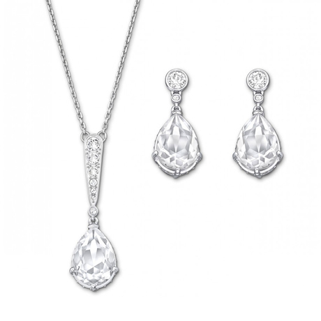 For Her - SWAROVSKI Vintage Rhodium Plated Set - 5062148