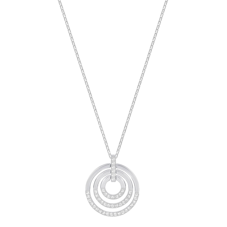 For Her - SWAROVSKI Circle Rhodium Plated Pendant - 5290187