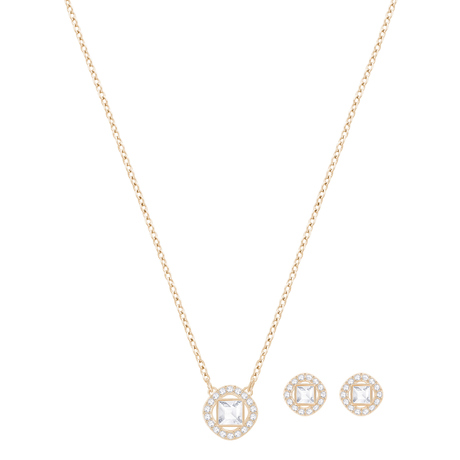 For Her - SWAROVSKI Angelic Square Rose Gold Plated Set - 5351306