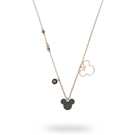 SWAROVSKI Mickey And Minnie Rose Gold Plated Mickey Necklace
