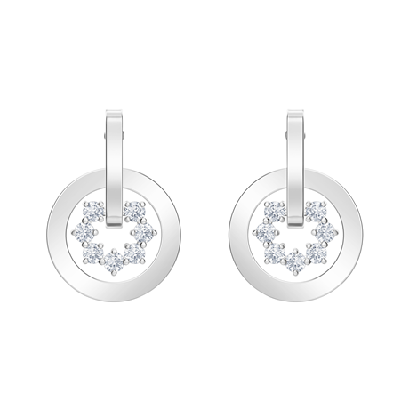 Swarovski Nice Silver Drop Earrings
