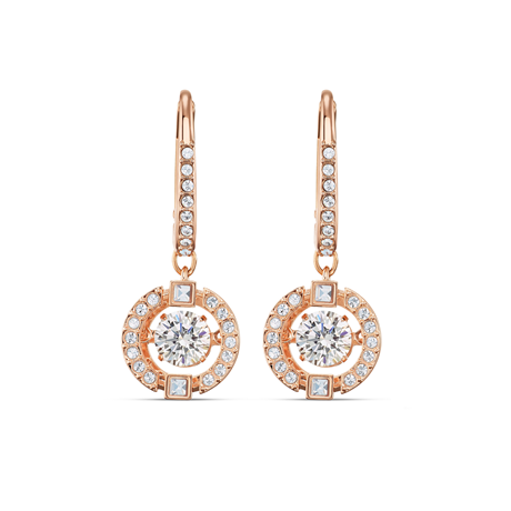 SWAROVSKI Sparkling Dance Rose Gold Plated Drop Earrings