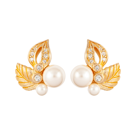Exclusive Susan Caplan Vintage Faux Pearl Dior Earrings