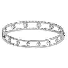 Mayors 18ct White Gold 2.84ct Diamond Bangle